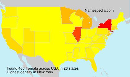 Surname Tomala in USA