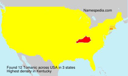 Familiennamen Tomanic - USA
