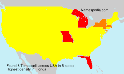Surname Tomasselli in USA