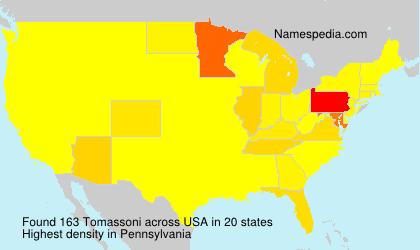 Surname Tomassoni in USA