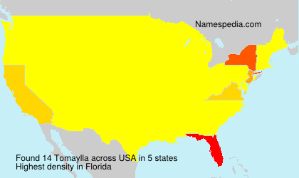 Surname Tomaylla in USA