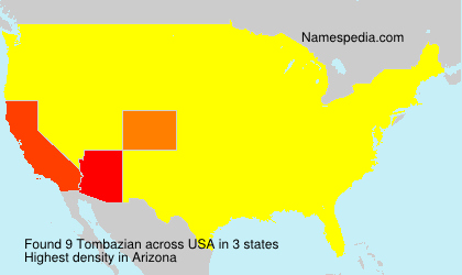 Surname Tombazian in USA