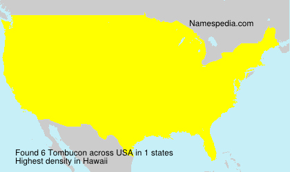 Surname Tombucon in USA