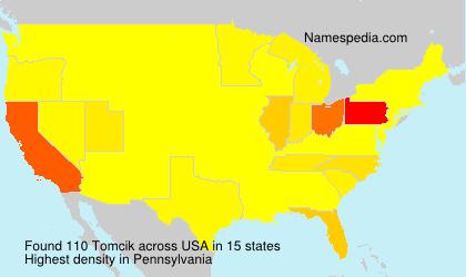 Surname Tomcik in USA