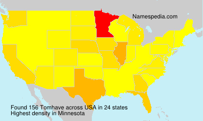 Familiennamen Tomhave - USA