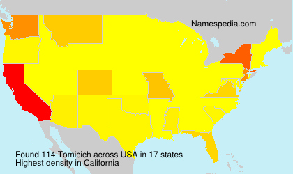 Surname Tomicich in USA