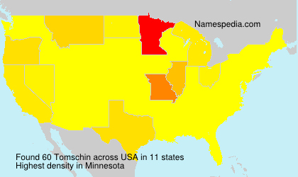 Surname Tomschin in USA