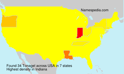Surname Tonagel in USA
