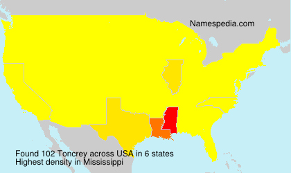Surname Toncrey in USA
