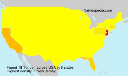 Surname Tonden in USA