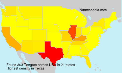 Surname Tongate in USA