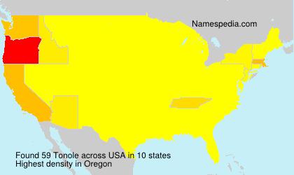 Surname Tonole in USA