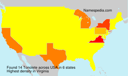 Surname Tonolete in USA