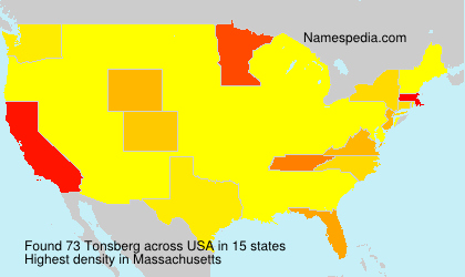 Surname Tonsberg in USA