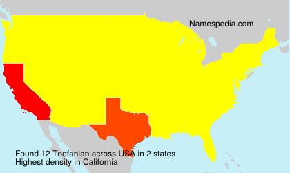Surname Toofanian in USA