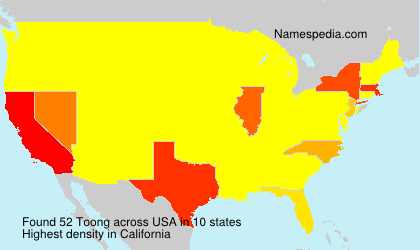 Surname Toong in USA