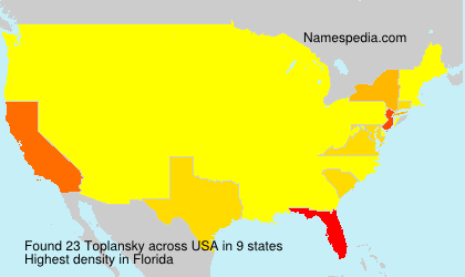 Surname Toplansky in USA