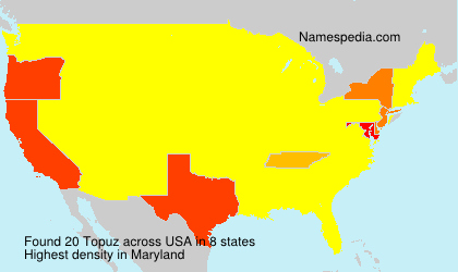 Surname Topuz in USA