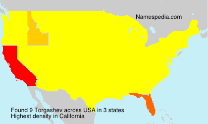 Surname Torgashev in USA
