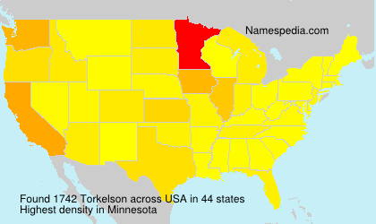 Surname Torkelson in USA