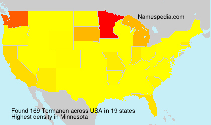 Surname Tormanen in USA