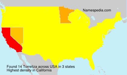 Surname Torreliza in USA