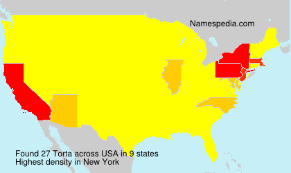 Surname Torta in USA