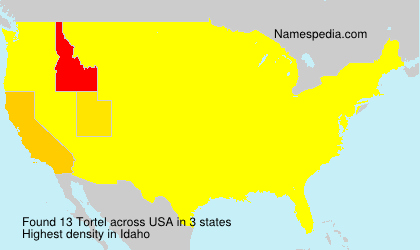 Surname Tortel in USA