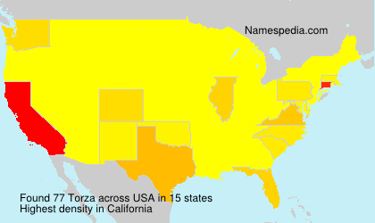 Surname Torza in USA