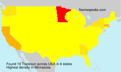 Surname Tosteson in USA