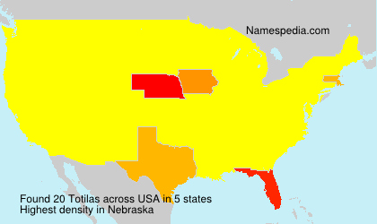 Familiennamen Totilas - USA