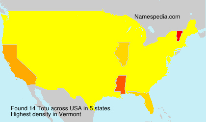 Surname Totu in USA
