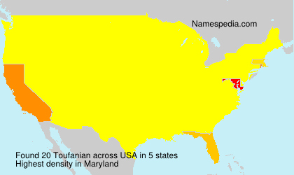 Surname Toufanian in USA