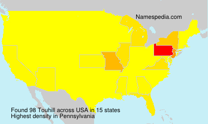 Surname Touhill in USA