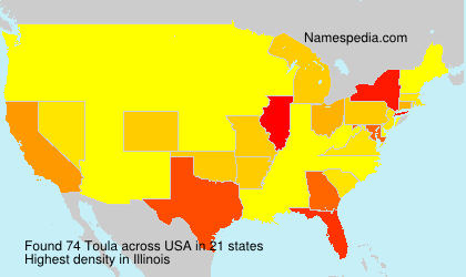 Surname Toula in USA