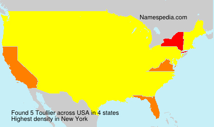 Surname Toullier in USA