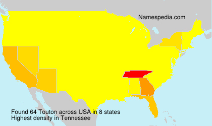 Surname Touton in USA