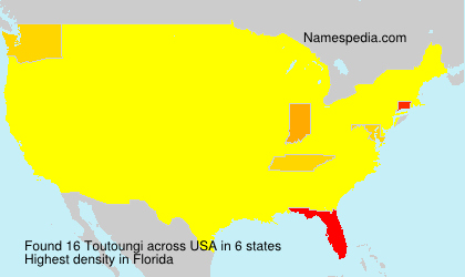 Surname Toutoungi in USA