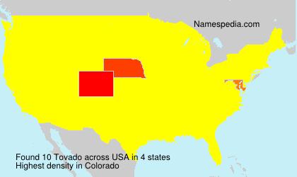 Surname Tovado in USA