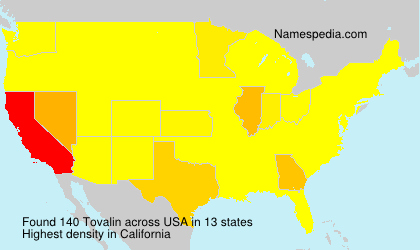 Surname Tovalin in USA