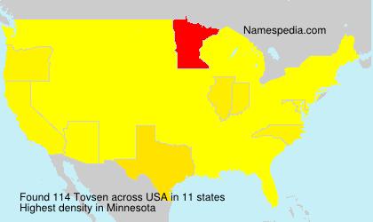 Surname Tovsen in USA