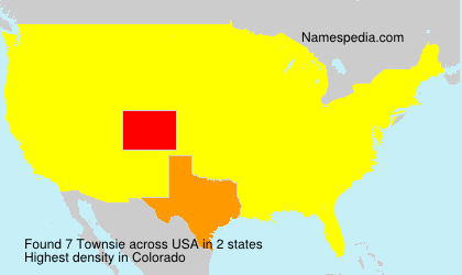 Surname Townsie in USA