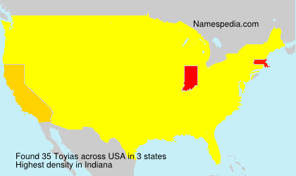 Surname Toyias in USA