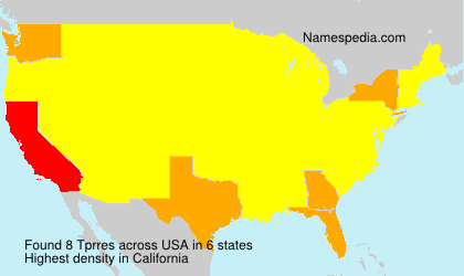 Surname Tprres in USA