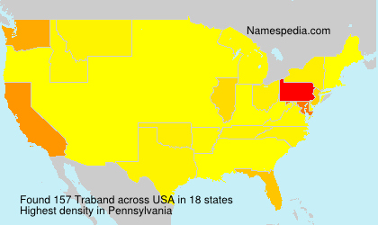 Surname Traband in USA