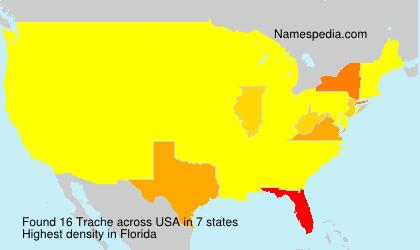 Familiennamen Trache - USA