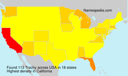 Surname Trachy in USA