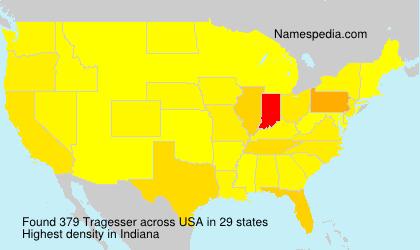 Surname Tragesser in USA
