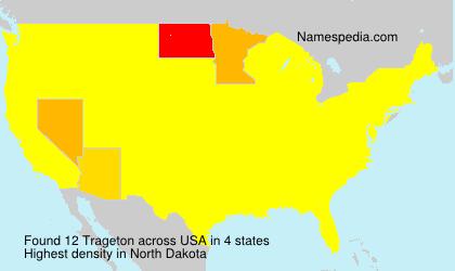 Surname Trageton in USA