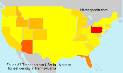 Surname Traher in USA